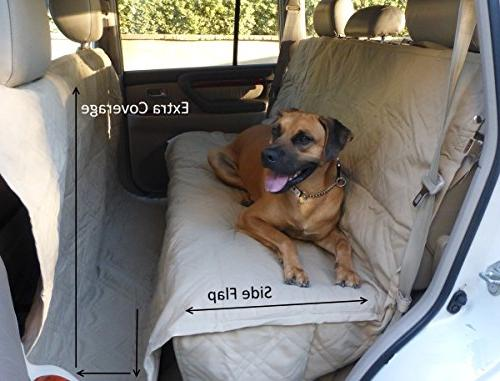 """Formosa Padded Pet Car Seat Fabric Non-Slip Backing Best and with Pet Free Fit 56"""" Wx94"""