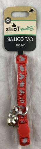 Disney Tails Cat Collar One Size Red Mickey Mouse Ears Icon