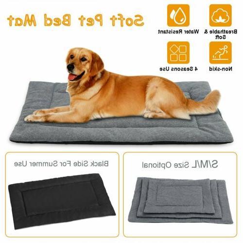 dog bed mat fleece pet dog crate