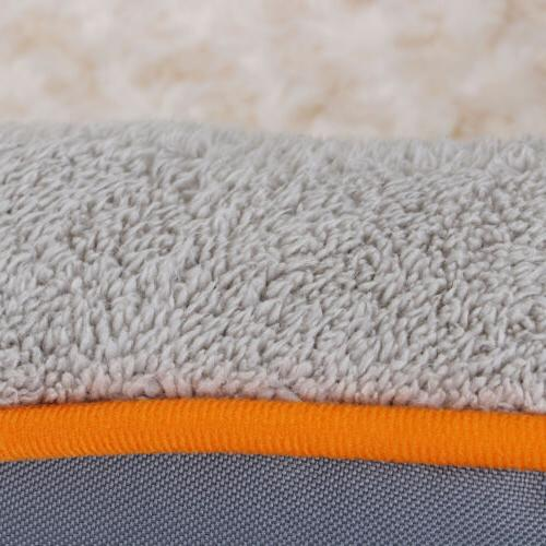 Dog Bed Memory Foam Pet Bed Removable Washable Cover Toy