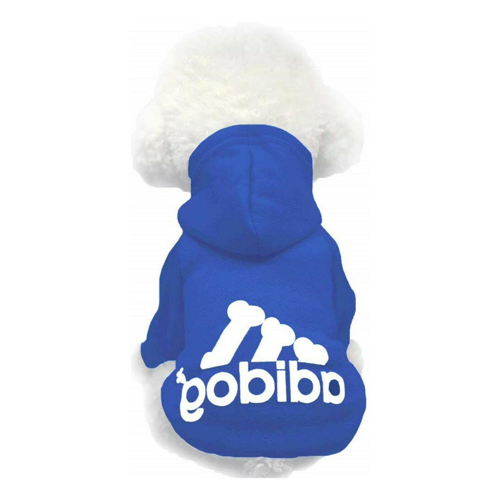 Adidog Hoodie 2 Legs Jumpsuit Puppy Hoodies Coat Sweatshirt Sports