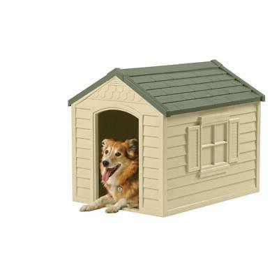 Dog House Outdoor for Small Weatherproof Plastic NEW
