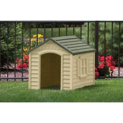 Dog House Outdoor Small to Large Weatherproof Plastic Houses NEW
