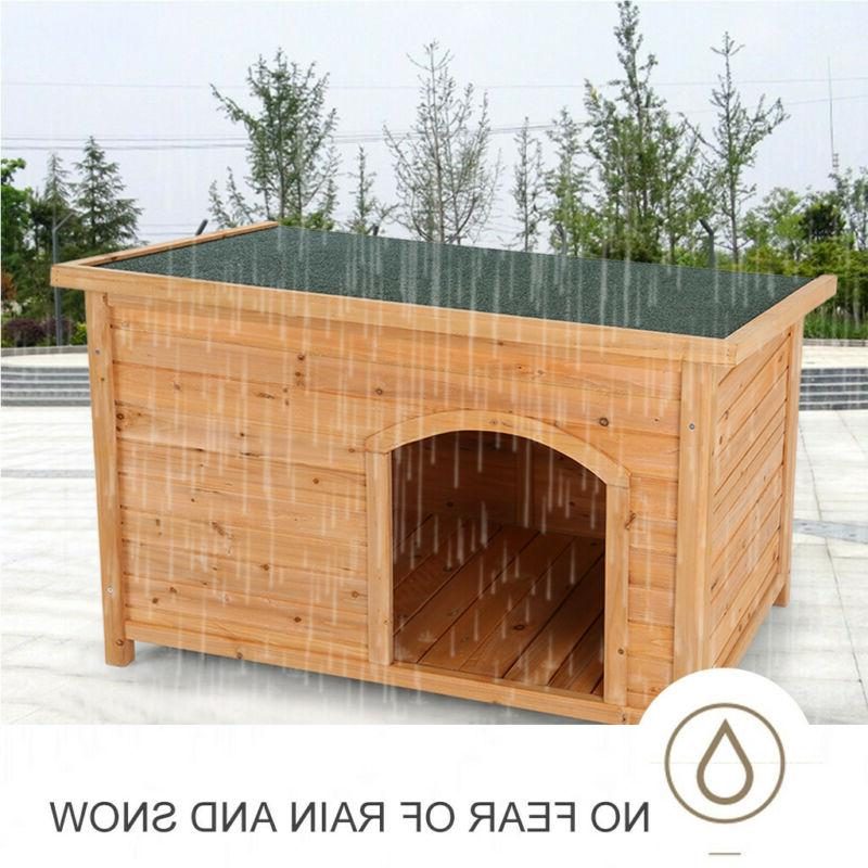 Dog House Small to Weatherproof Wooden Pet NEW