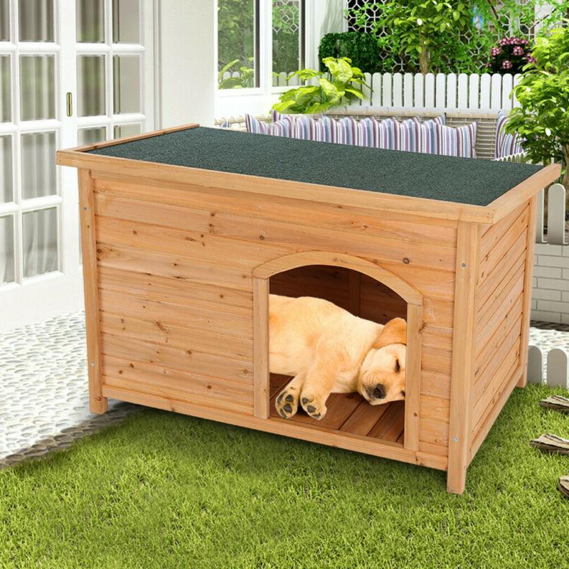 Dog Outdoor Small to Weatherproof Wooden Gift NEW