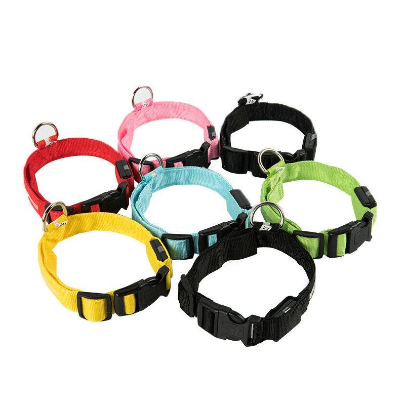 Dog Collar Blinking Night Flashing Light Up Glow Adjustable Safety USA