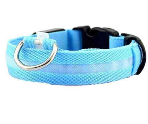 Dog LED Collar Blinking Night Glow Adjustable USA