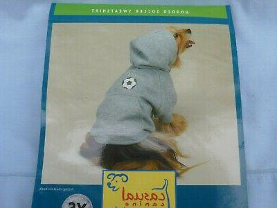 dog pet hooded soccer sweatshirt by size