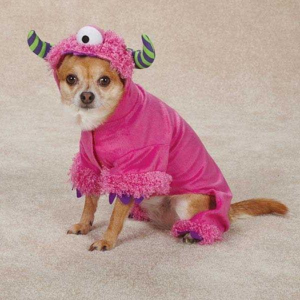 dog puppy soft halloween costume pink monster