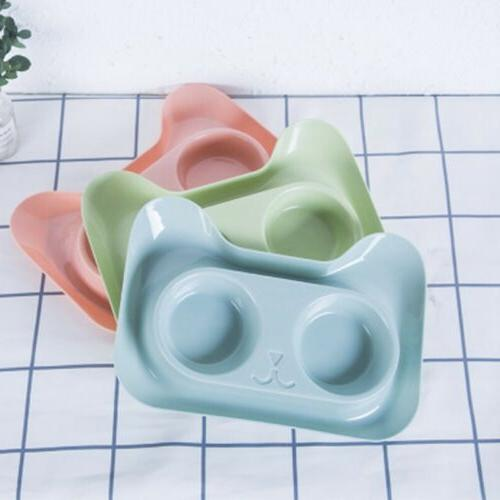 Double Dog/Cat Pet Bowls Dish Feeder Cat US