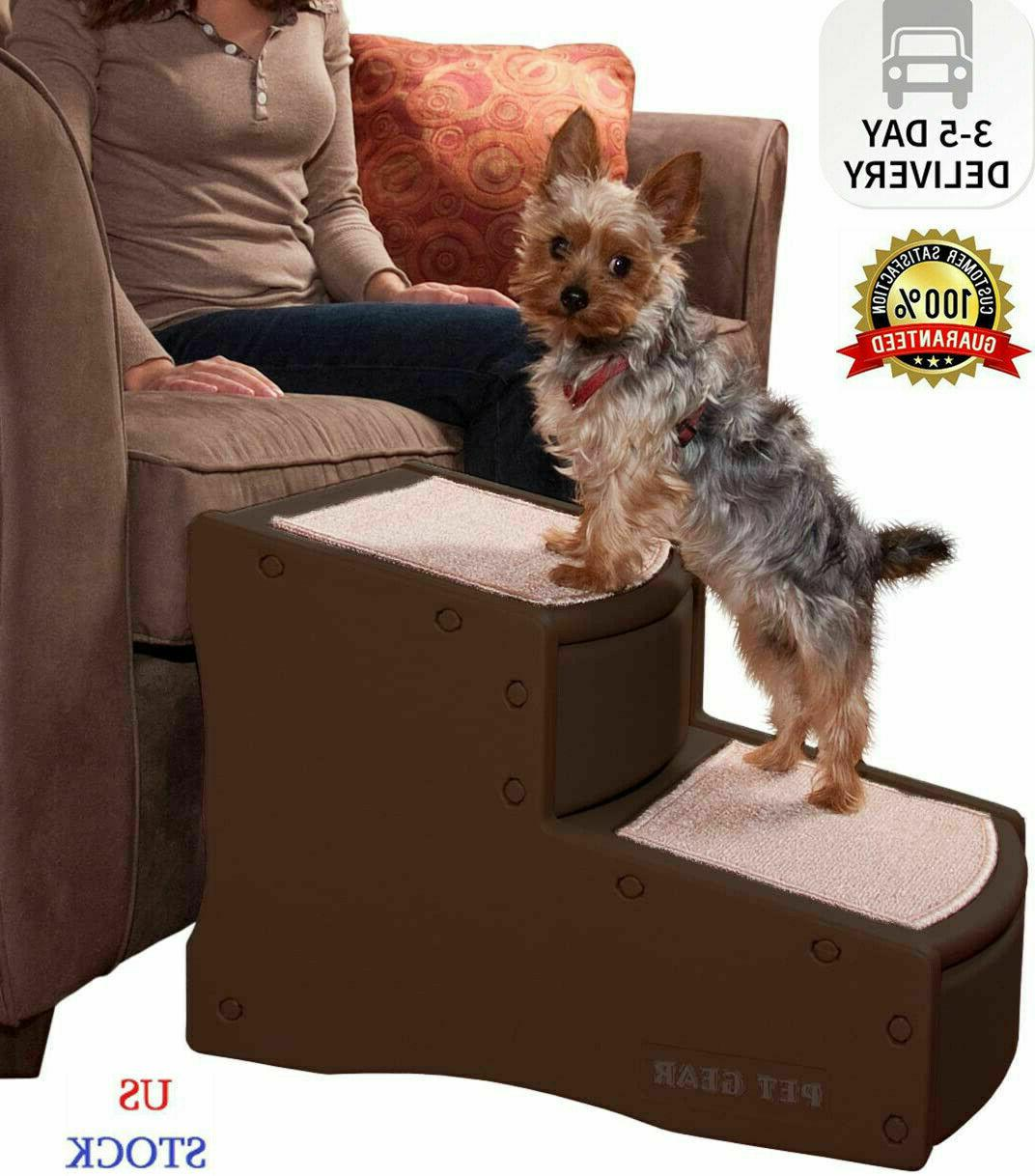 Pet Gear Easy Step II Pet Stairs, 2 Step for Cats/Dogs up to