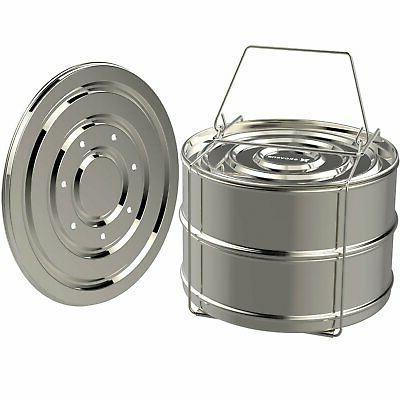 ekovana stackable stainless steel pressure cooker steamer in