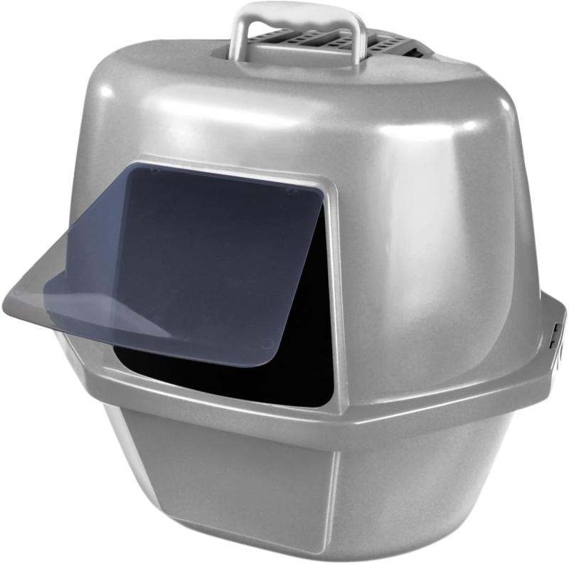 extra large cat litter box pan corner
