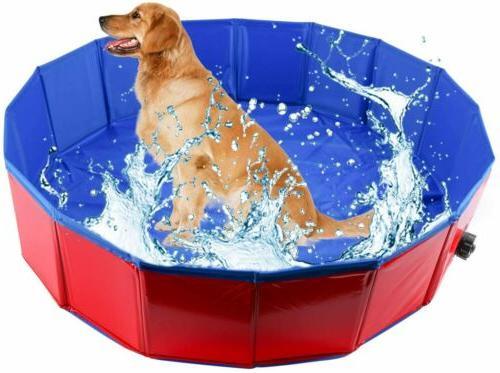 Foldable Dog Bath Pool Pet Bathing Swimming Bathtub Kiddie Pool for Dog