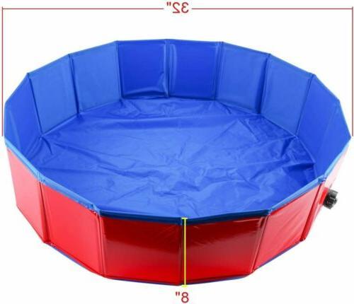 Foldable Pet Bath Pool Swimming Bathtub Kiddie for Dog