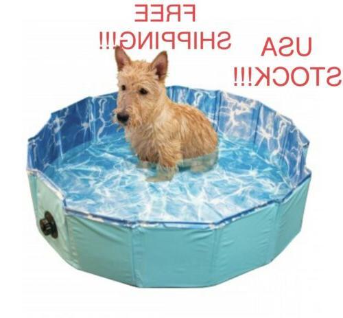 foldable dog pet swimming pool