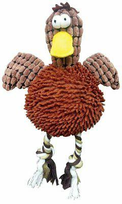 Ethical Pets Gigglers Chicken Dog Toy, 12-Inch, Assorted