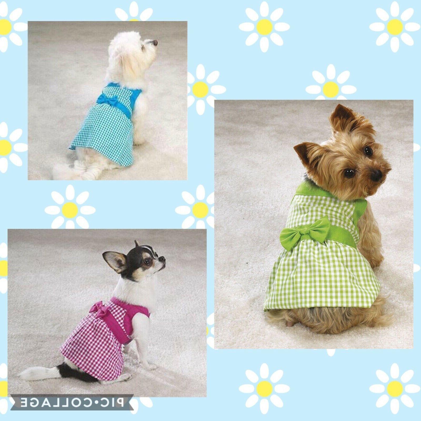 gingham summer dress blue pink green