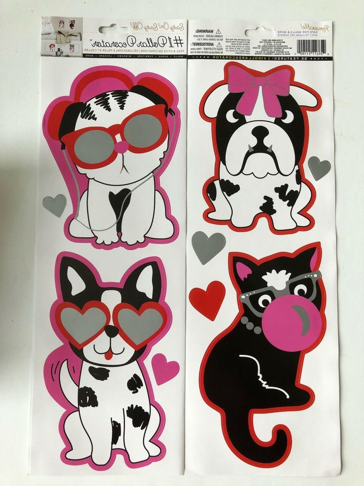 glamour pets dog cats sunglasses wall stickers