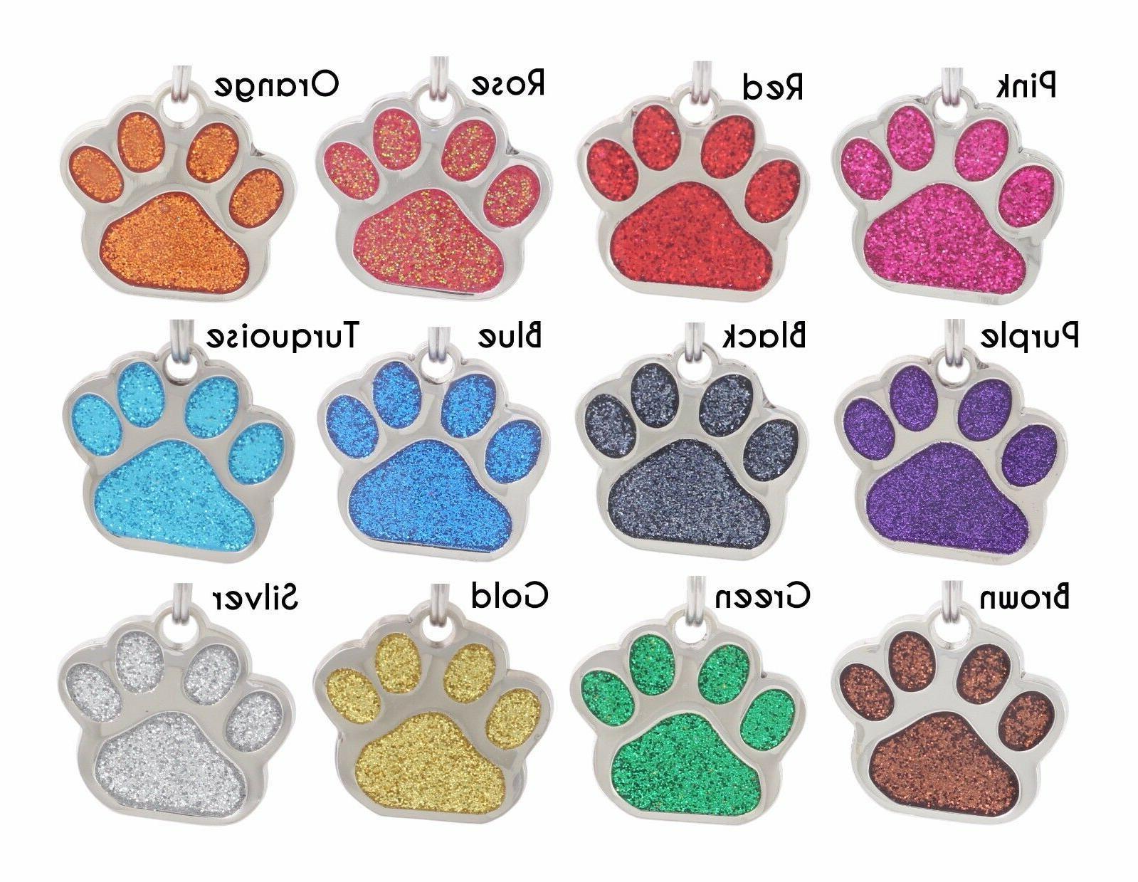 Glitter ID Custom Engraved Dog