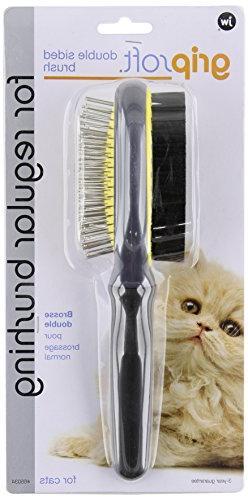 JW Pet Company GripSoft Double Sided Cat Brush