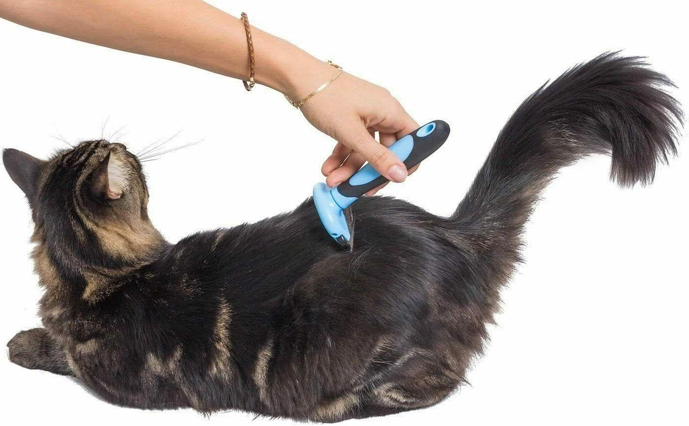 Grooming Brush For Dog Deshedding Rake Reduce Hair