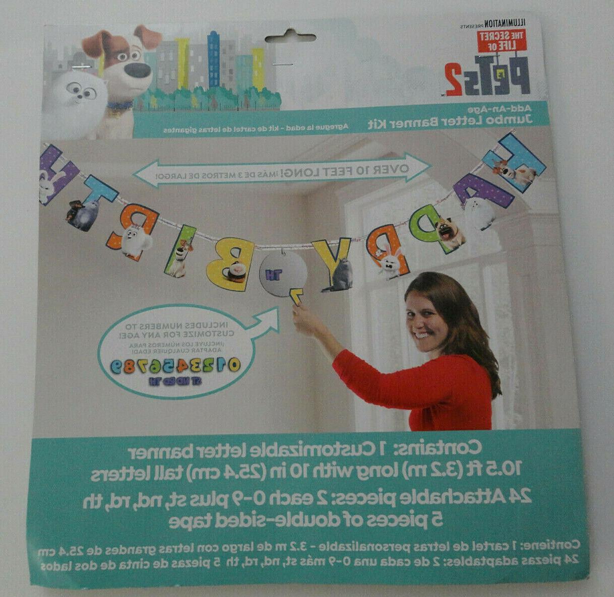 happy birthday jumbo letter banner kit