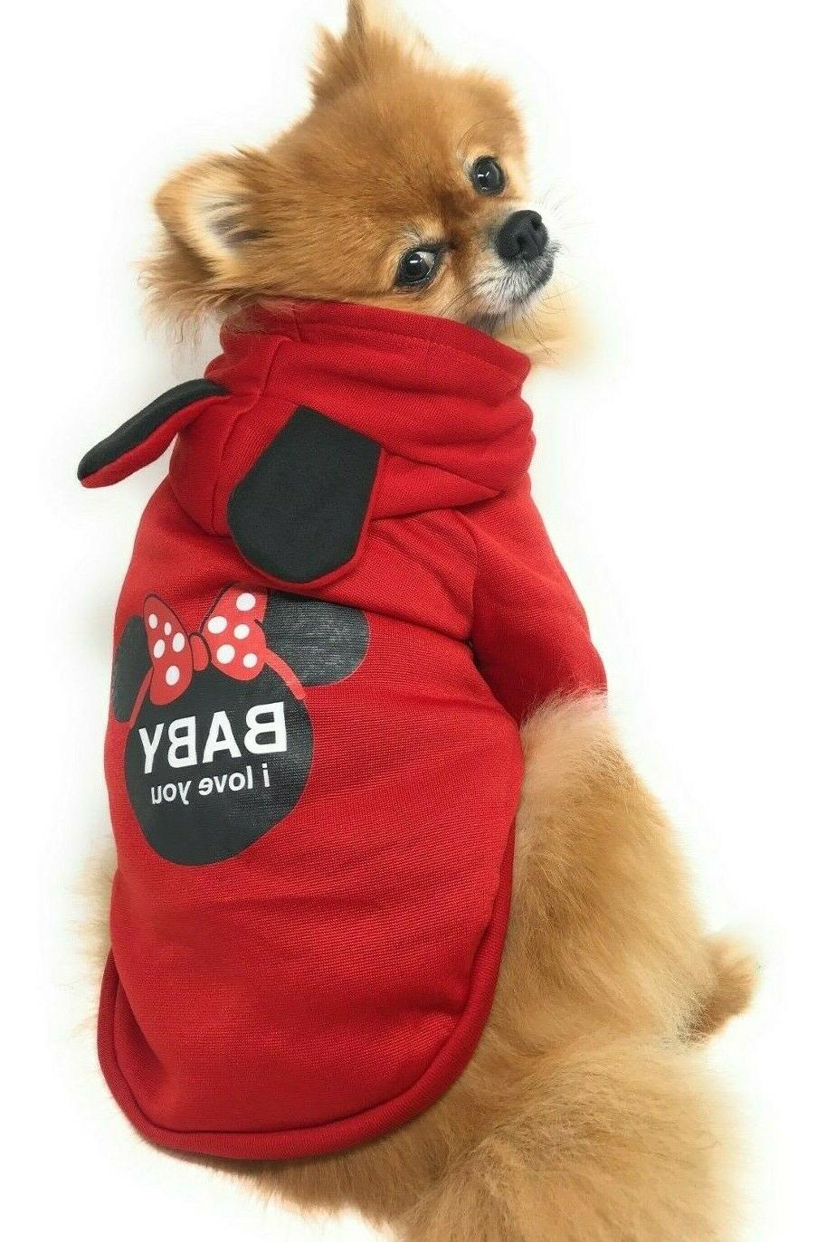 Hoodie Pet Clothes Coat Jacket Dogs Cats
