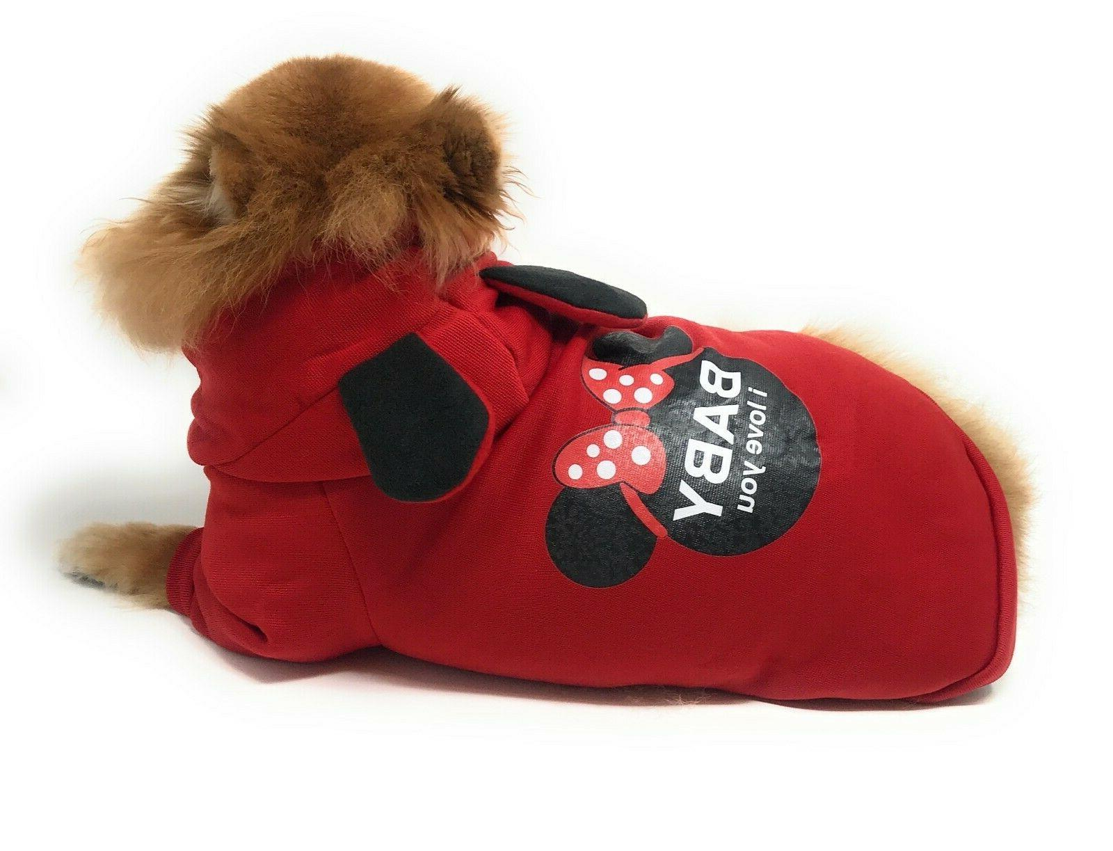 Hoodie Clothes Coat Small Dogs