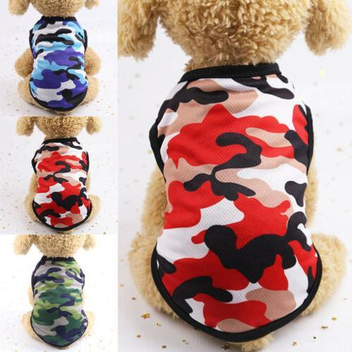 hot summer dog clothes camouflage vest