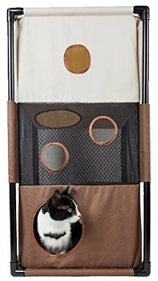 PET LIFE 'Kitty-Square' Collapsible Travel Interactive Kitty