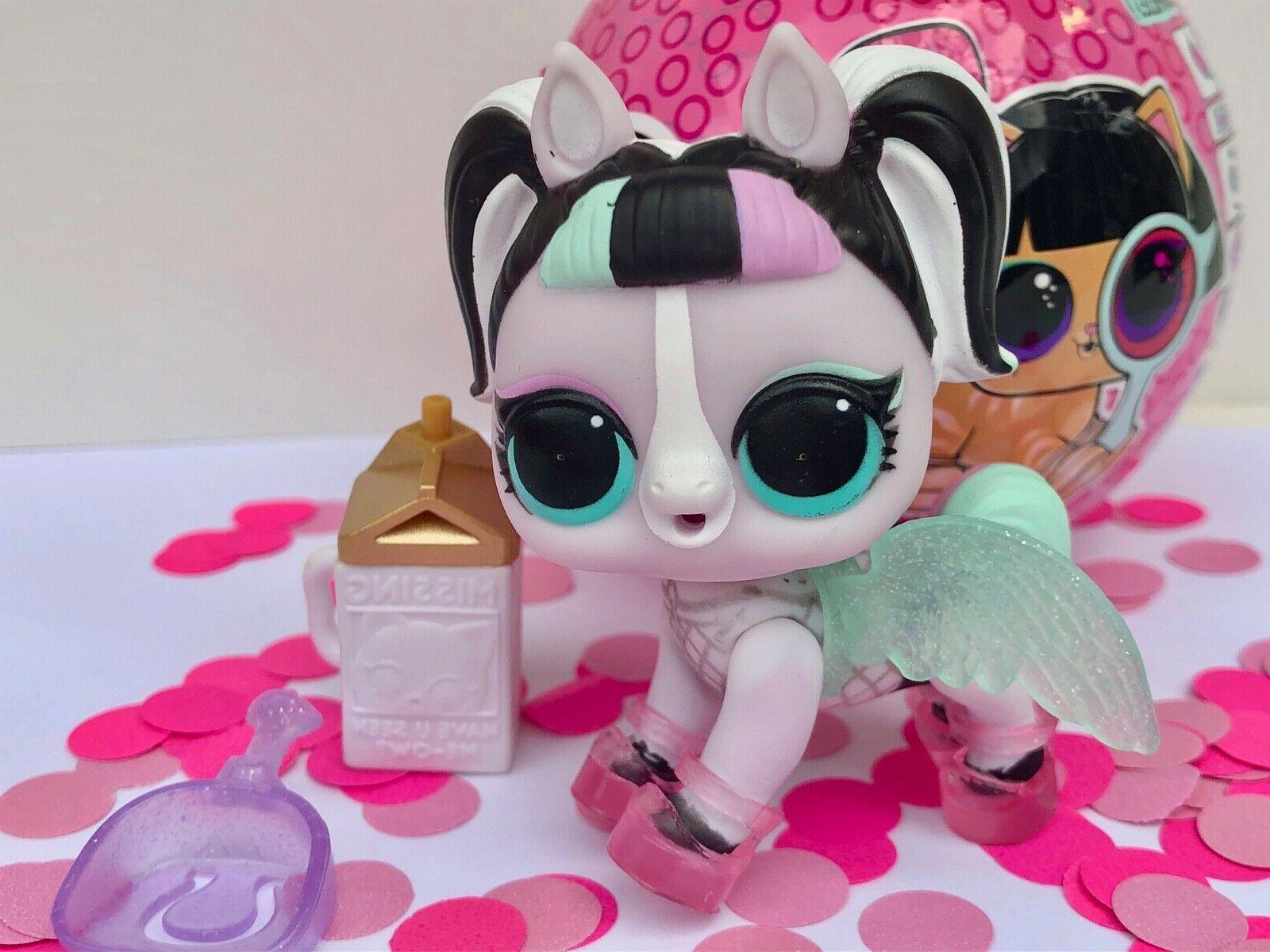 lol surprise doll unicorn pet unipony color