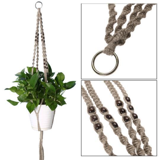 macrame plant hanger for medium or large