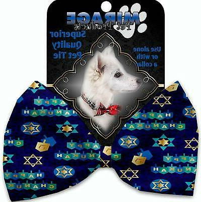 mirage hanukkah bow tie for pets chanukah