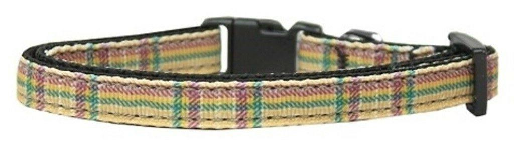 mirage pet products plaid nylon ribbon collar