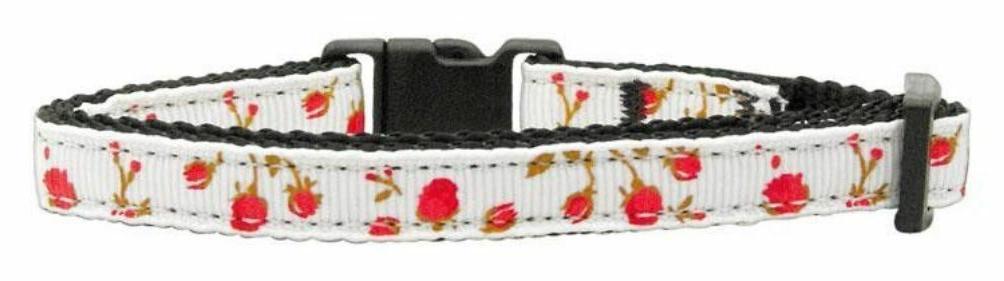 mirage pet products roses nylon ribbon collar
