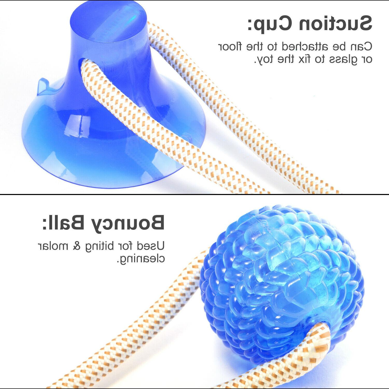 Pet Dog Tug Rope Chew Toys Cleaning Suction