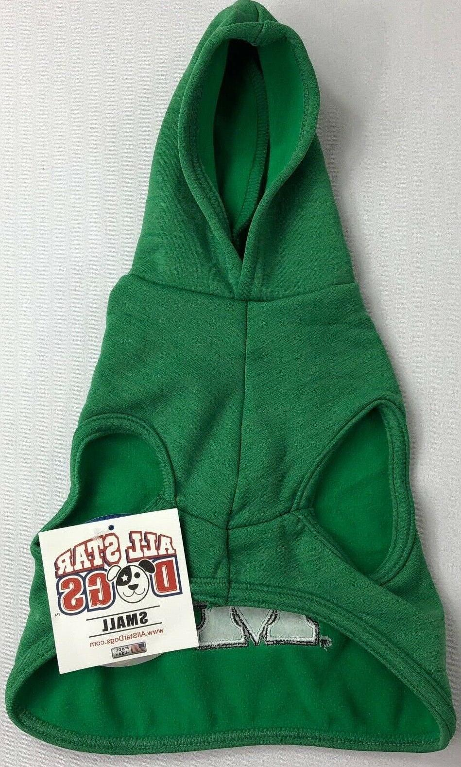 ncaa college pet dog hooded green marshall