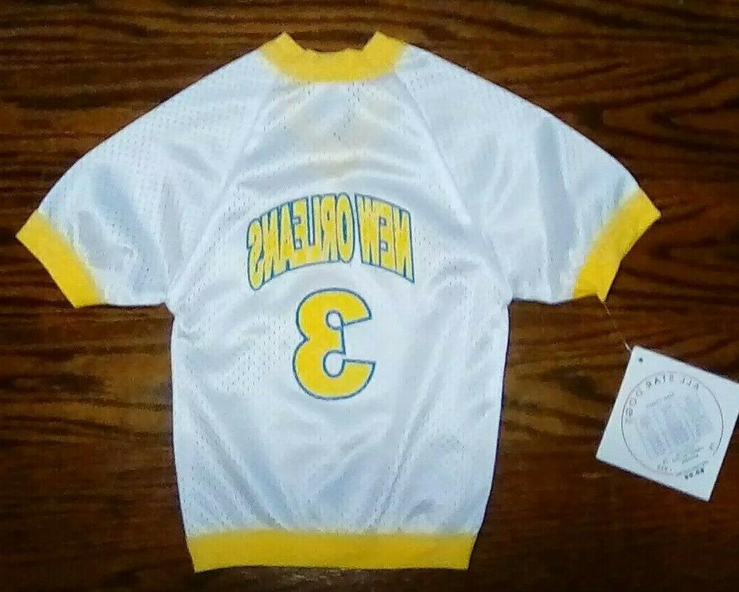 new orleans pet mesh sports jersey xs