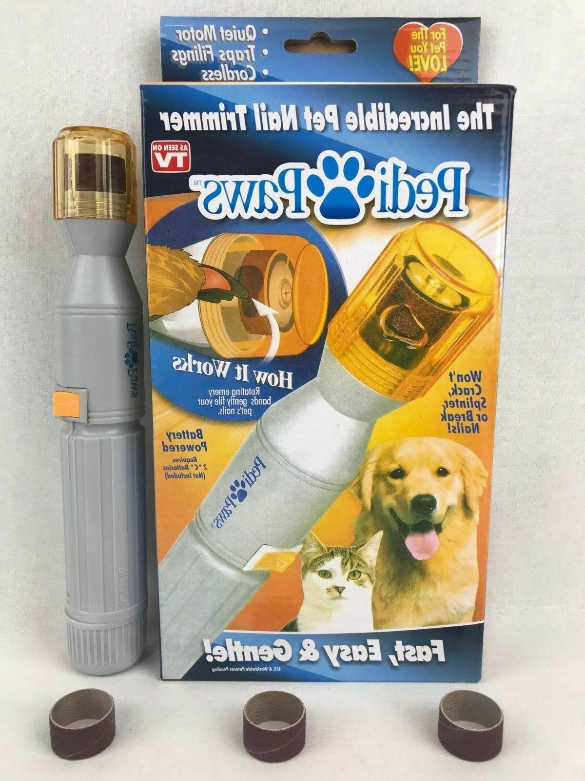 PediPaws Pet Dog Cat Pedicure Trimmer Grinder Grooming Tool