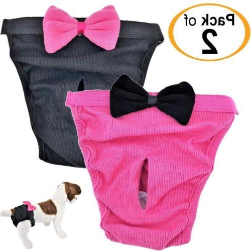 pack 2 dog diapers female cat girl