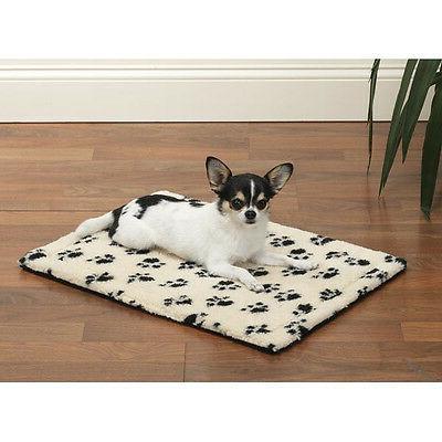 pawprint dog pet crate mat cushion plush