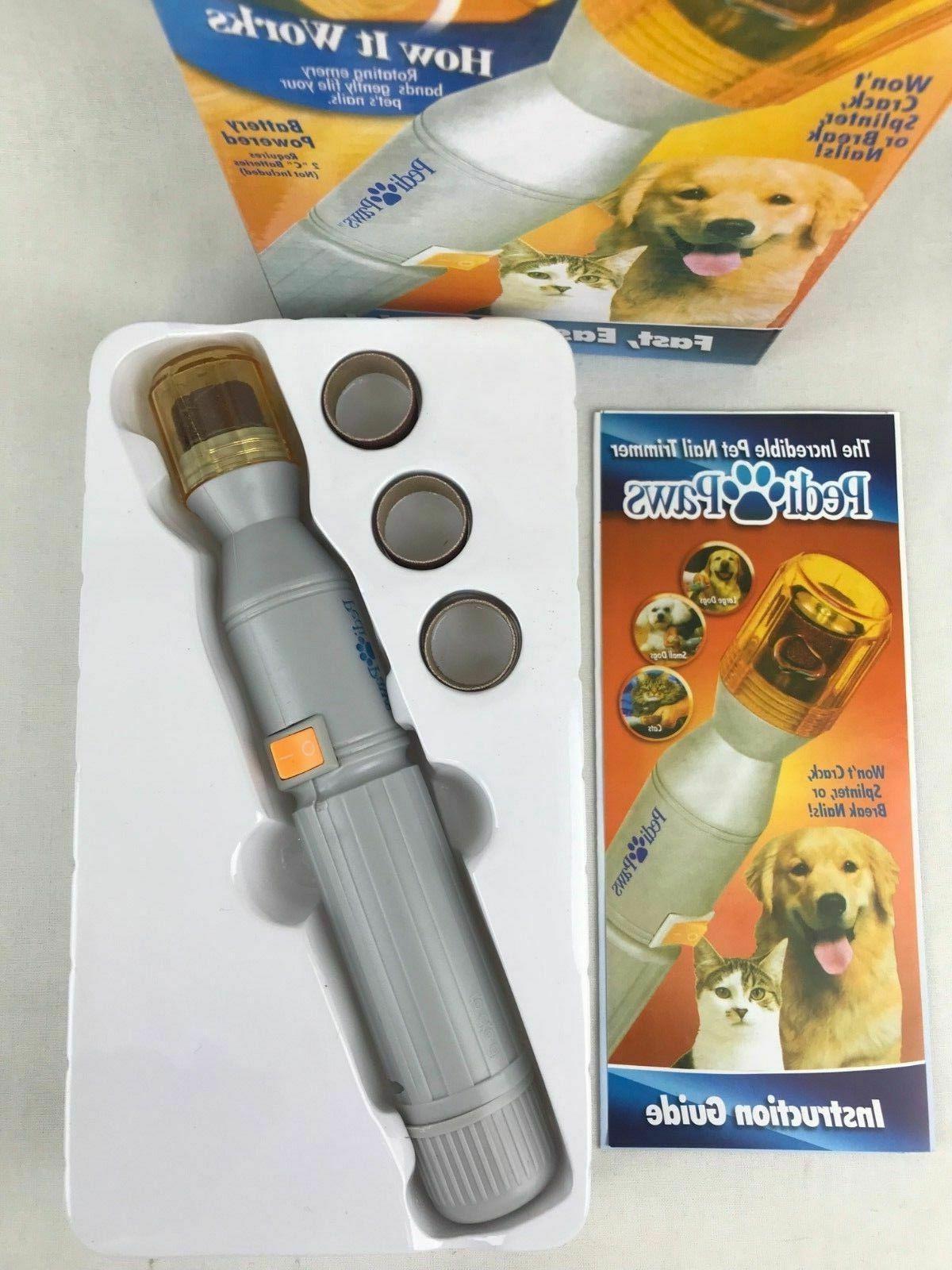 PediPaws Pet Dog Cat Pedicure Trimmer Grinder Tool Nail