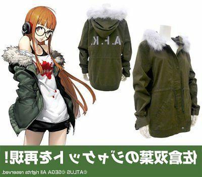 persona 5 futaba sakura military flight jacket