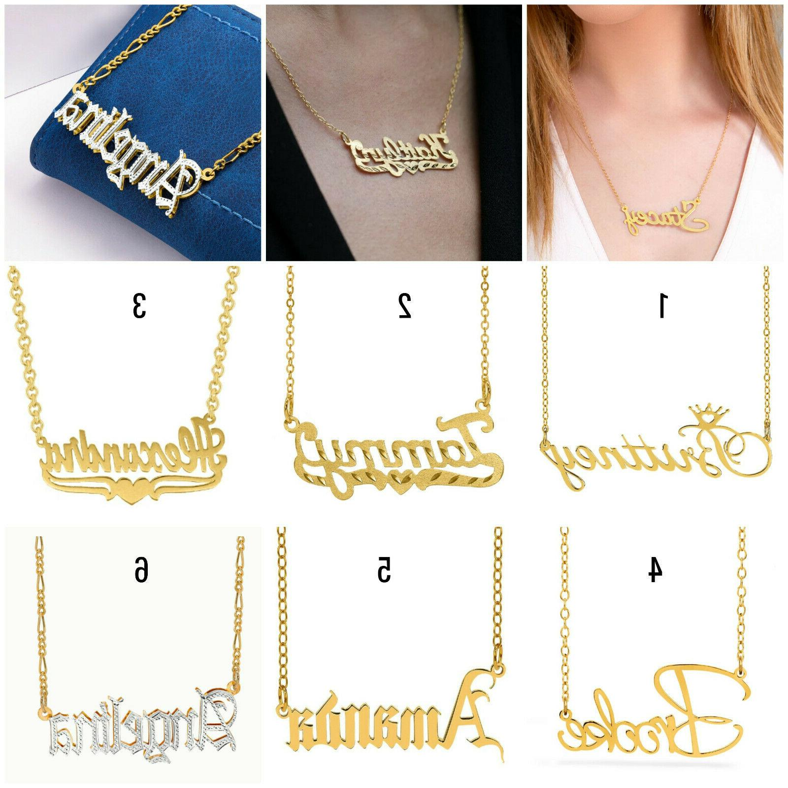 personalized any name 14k gold plated sterling