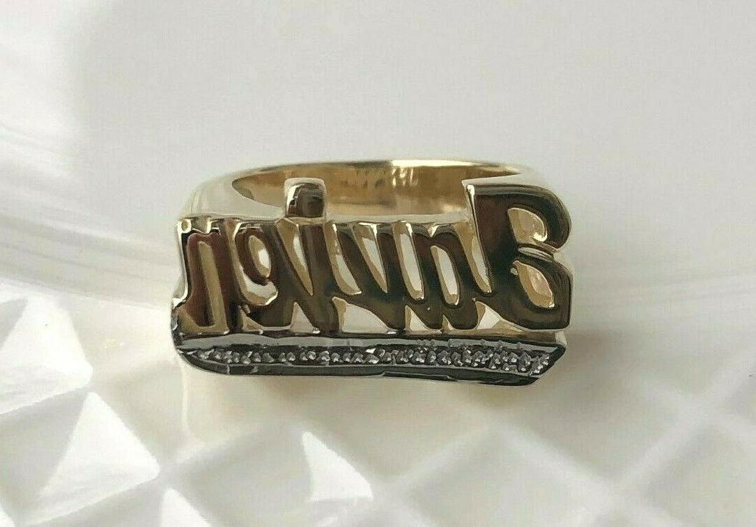 personalized name ring in real 10k or