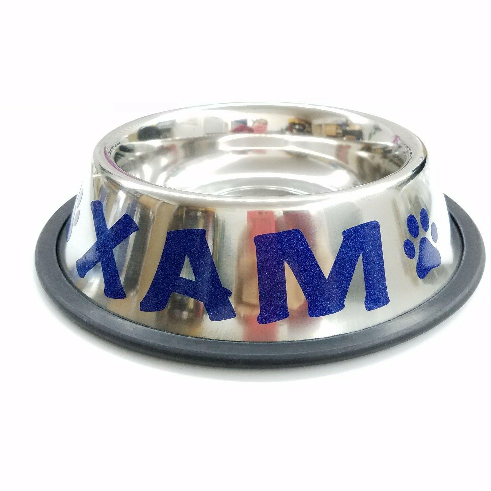 Personalized Stainless Bowl. Cat. CUSTOM NAME.