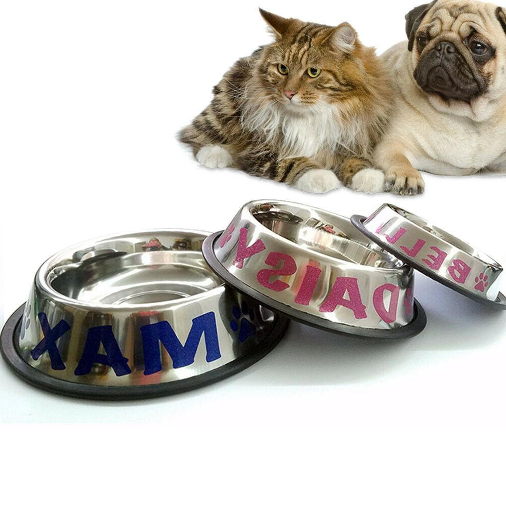 personalized stainless steel pet bowl for pets