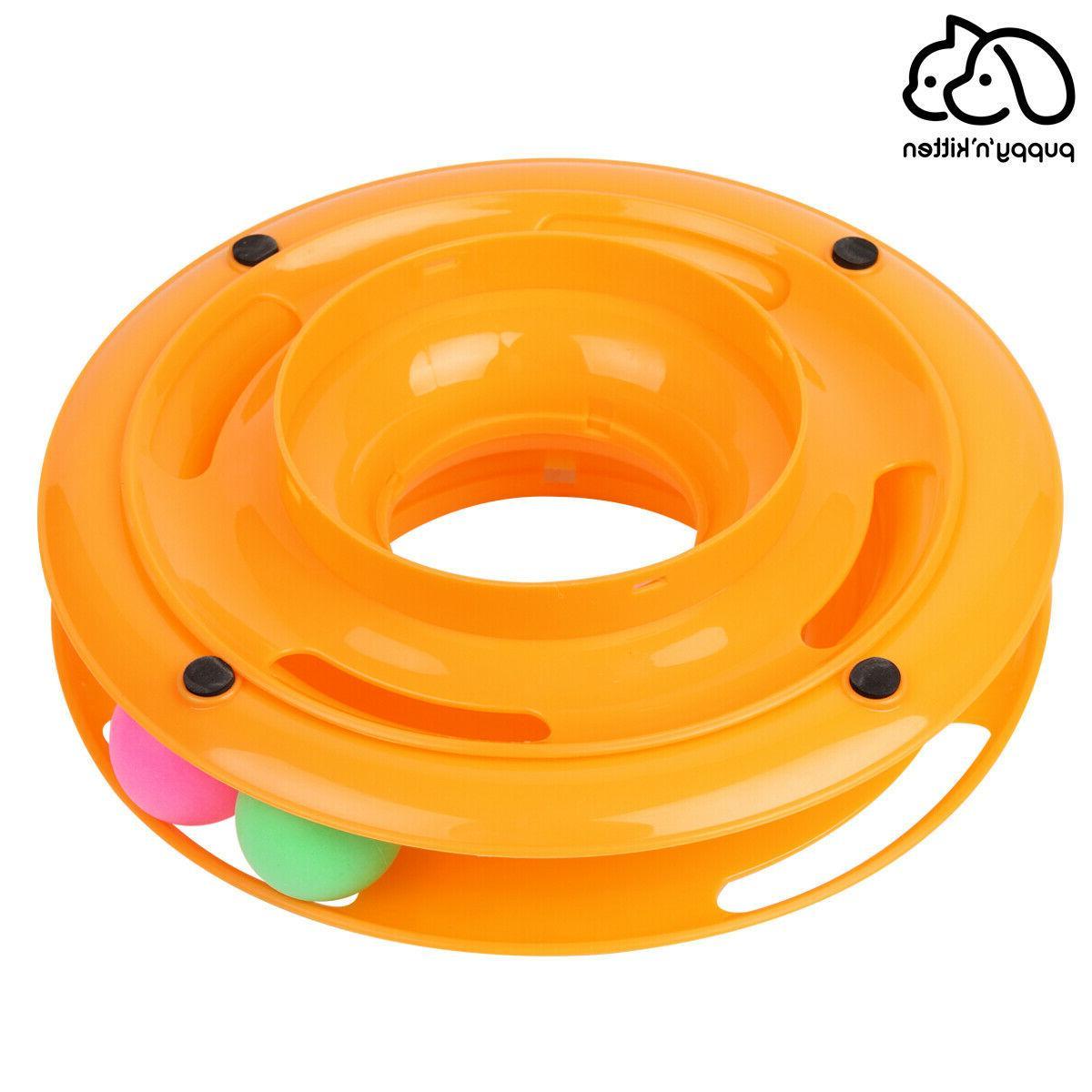 Pet Cat Ball Disk Interactive Toys Amusement Plate