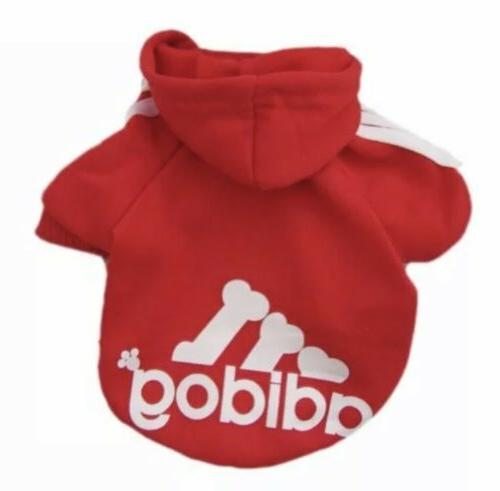 pet clothes for dogs hoodies red size
